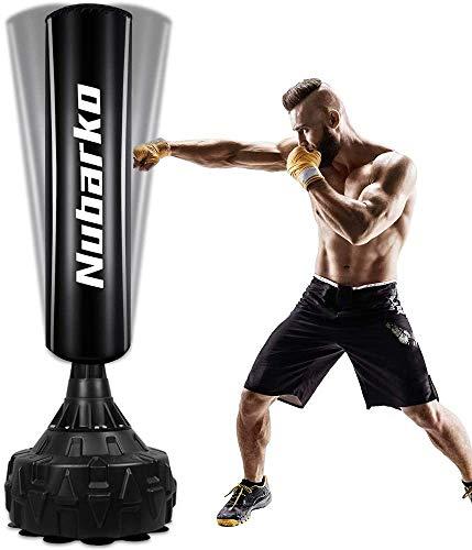 NUBARKO Boxsack Erwachsene Freistehender Standboxsack MMA Boxpartner Boxing Trainer Heavy Duty Boxsack mit Saugfuß