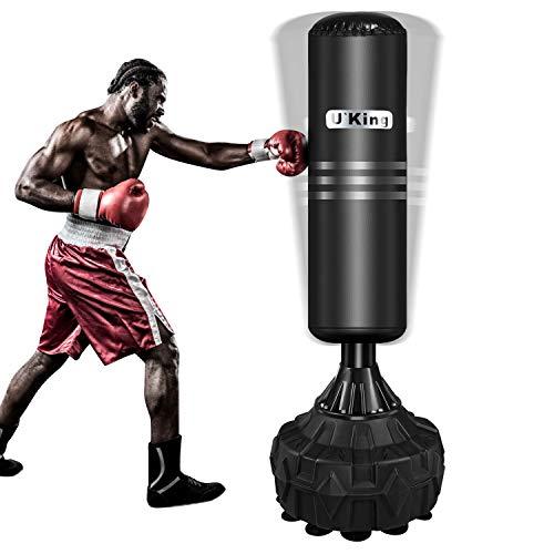 U`King Boxsack Trainingsgeräte Freistehender Standboxsack Boxpartner Boxing Trainer Heavy Duty Boxsack Set Stehend Boxsäule Tumbler