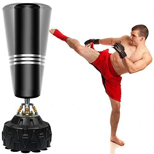 ZILINGO Boxsack Standboxsäcke Erwachsene Freistehender Standboxsack MMA Boxpartner Boxing Trainer Heavy Duty Punchingsäcke mit Frühling Saugfuß, für Anfänger, Profis, Erwachsene, Jugendliche